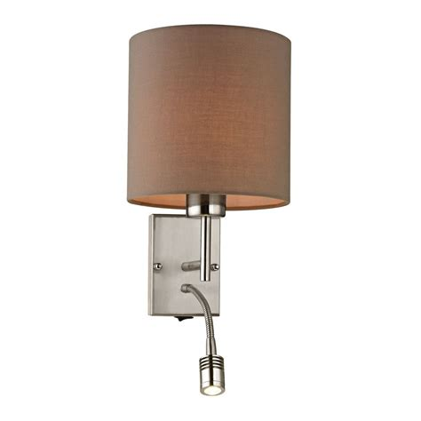 Switched Wall Sconce Modern Led Switched Sconce Wall Light In Brushed Nickel Finish 17151 2 Led Destination Lighting