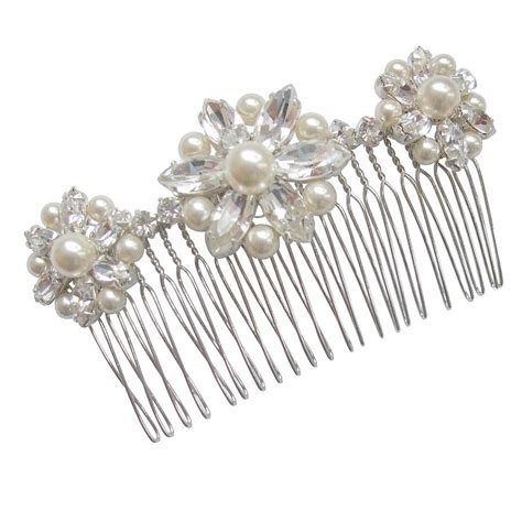 vintage wedding hair combs vintage hair comb edwardian celluloid rhinestone vintage