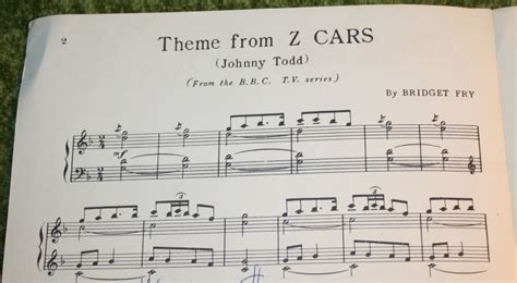 theme song z cars z cars sheet music little storping museum