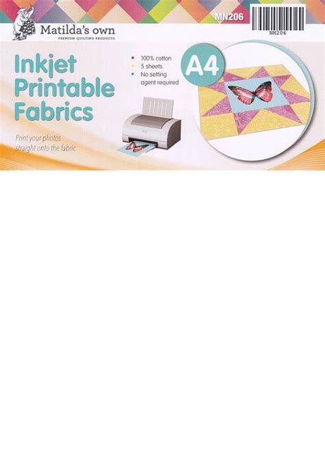 printable fabric for laser printers matilda s own inkjet printable fabric sheets 5 sheets