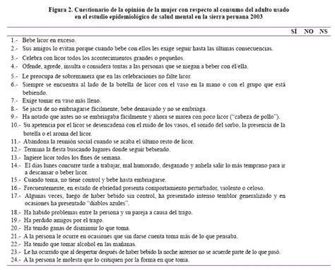 preguntas indirectas cuestionario diagn 243 stico indirecto del abuso dependencia al alcohol en