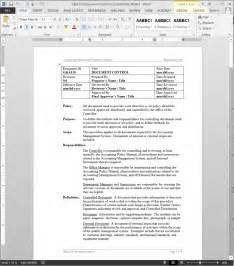 iso document control document control procedure template