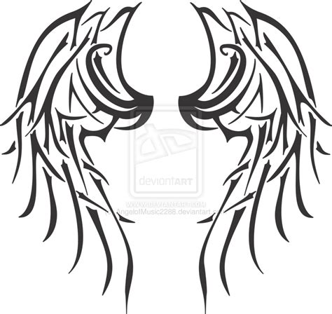 tribal wing tattoo designs tribal wings by angelofmusic2288 on deviantart