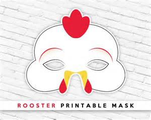 chicken printable mask rooster printable mask lunar new etsy