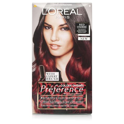 preference wild ombre on short hair l oreal preference wild ombre red 6 66 chemist direct
