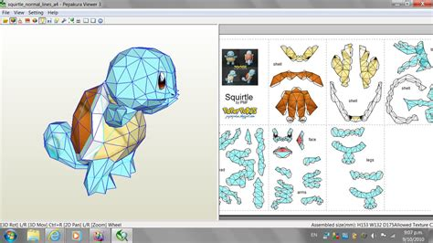 Papercraft Viewer - what a pdo file looks like by x0xchelseax0x on deviantart