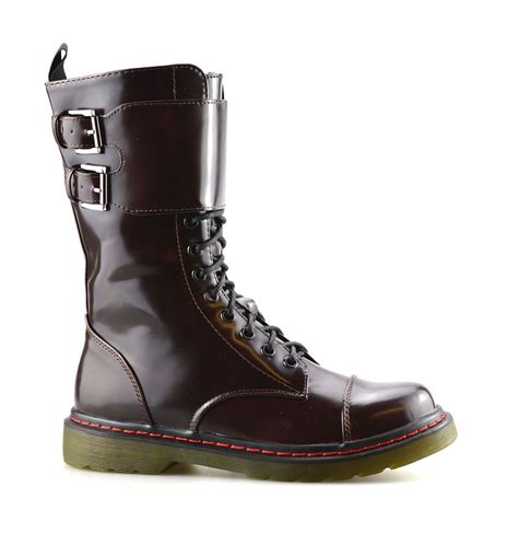 casual biker boots lace up casual style ankle