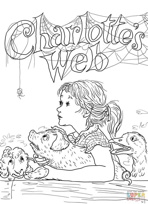Charlotte's Web coloring page   Free Printable Coloring Pages
