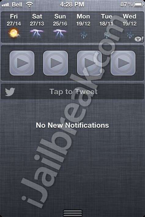 notification center themes cydia ios 6 twitter widget for notification center on ios 5