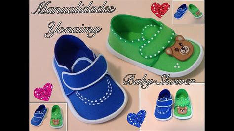 zapatos  baby shower en foami drawmitvorlage