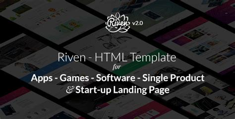 Html Css Js Riven Html Template For App Game Single Product Landing Page Scripts Nulled Discord Staff Application Template