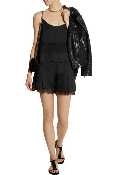 Topshop Heading To States With Kate Moss Line At Barneys by Kate Moss For Topshop Scalloped Satin And Chiffon Shorts
