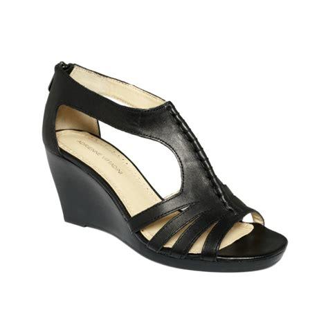 adrienne vittadini sandals adrienne vittadini lark wedge sandals in black lyst