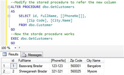 How To Rename Column Name In Sql Server Sqlhints Com Sql Server Alter Table Change Column Name