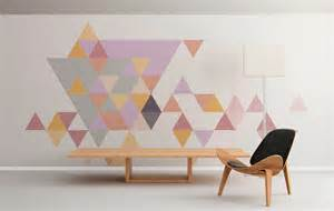 geometric triangles pastel moonwallstickers com geometric triangles vinyl wall sticker set by oakdene