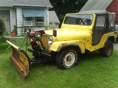 Jeep With Plow For Sale Buy Used 1980 Jeep Cj 5 With Plow In Coventry