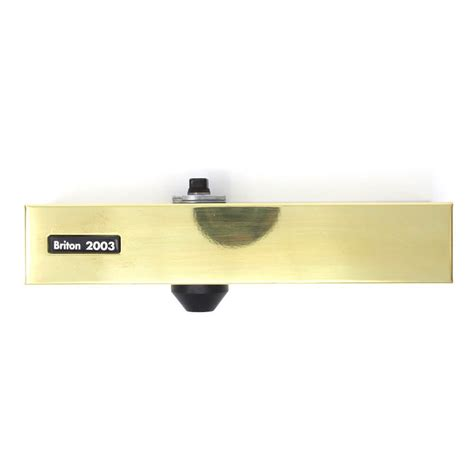 briton 2003e overhead door closer polished brass
