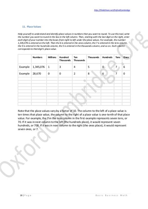 Business Math Worksheets by Business Math Worksheet Basic Business Math Study
