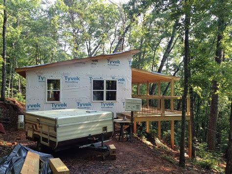 shed roof cabin soffits shanty building tips