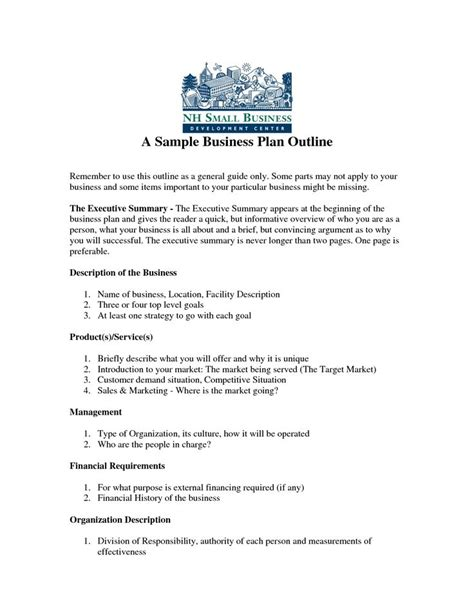 how to develop a business plan template 25 best ideas about business plan sle pdf on