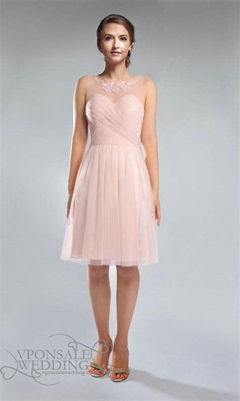 boat neck bridesmaid dress uk blush pink lace and tulle strapless boat neck bridesmaid