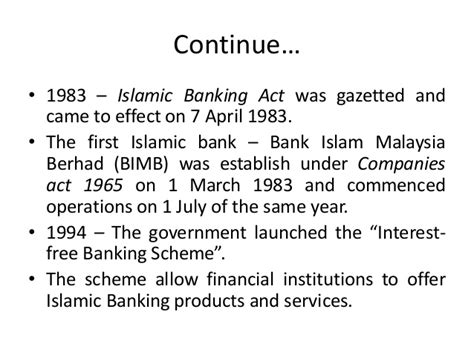Mba Islamic Banking And Finance Malaysia by The History Of Islamic Bank Chap 1 Islamic Banking