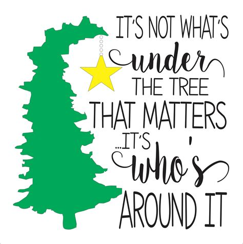 charlie brown christmas its not whats under the tree quote stencils stencils seasonal stencils
