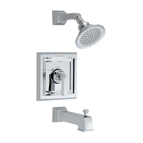 Shower Set Chrome American Standard american standard town square 1 handle tub and shower faucet trim kit in chrome valve sold