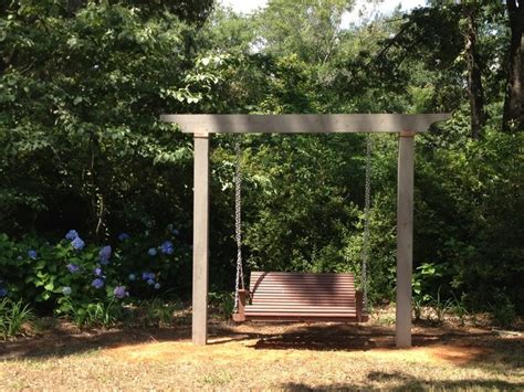 arbor swing frame single beam swing structure traditional patio by my