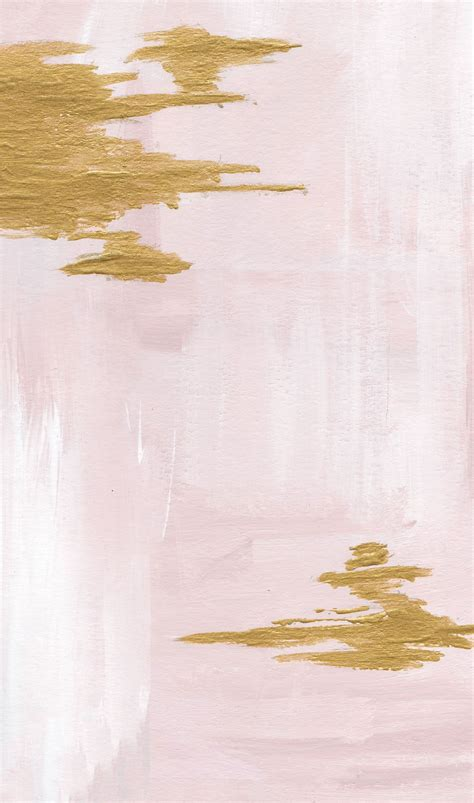 wallpaper iphone warna pastel pink blush gold watercolour paint brush stroke abstract
