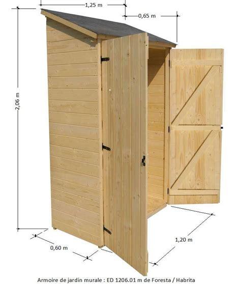 armoire bois jardin armoire de jardin en bois murale adossable pour rangement