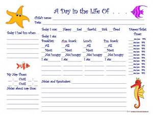 Free Toddler Daily Notes » Home Design 2017