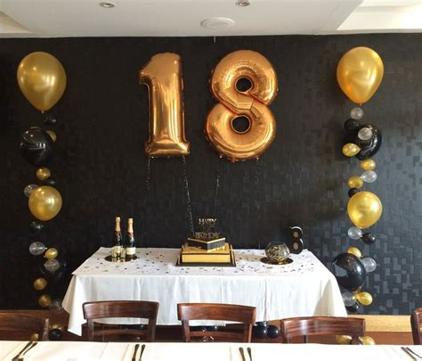 gold and black themed 18th party 18th birthday