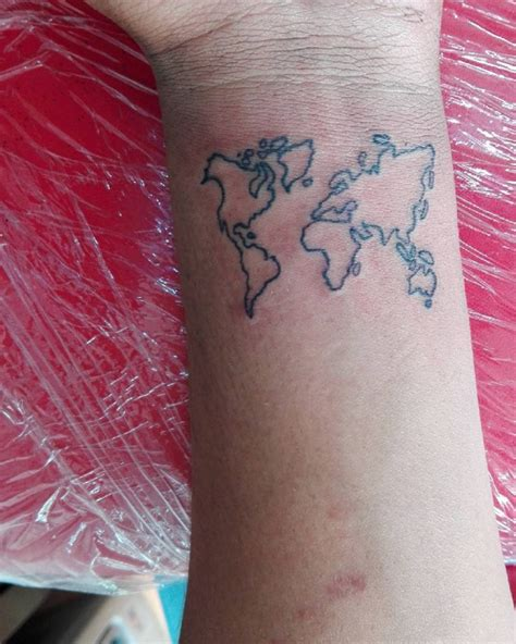 map of the world tattoo wrist world map outline wrist images word map images