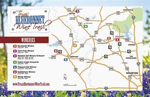 map of hill country wineries bluebonnet wine trail uncorked
