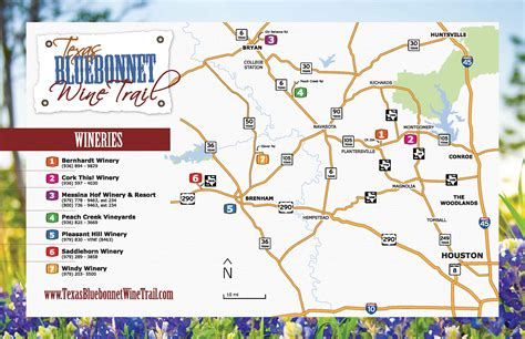 texas wine map texas bluebonnet wine trail texas uncorked