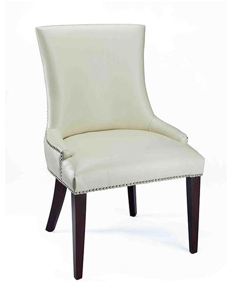 Becca Dining Chair Becca Leather Dining Chair Traditional Dining Chairs By Overstock