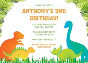 Birthday Card Invitations Templates Free by 17 Dinosaur Birthday Invitations How To Sle Templates