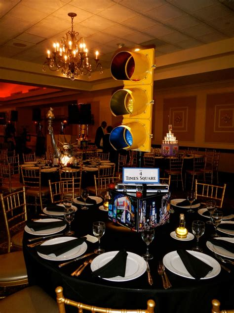 nyc themed decorations nyc theme bar mitzvah at brooklake country club event