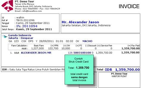 tutorial membuat invoice travelbos bukti penerimaan aplikasi akunting travel