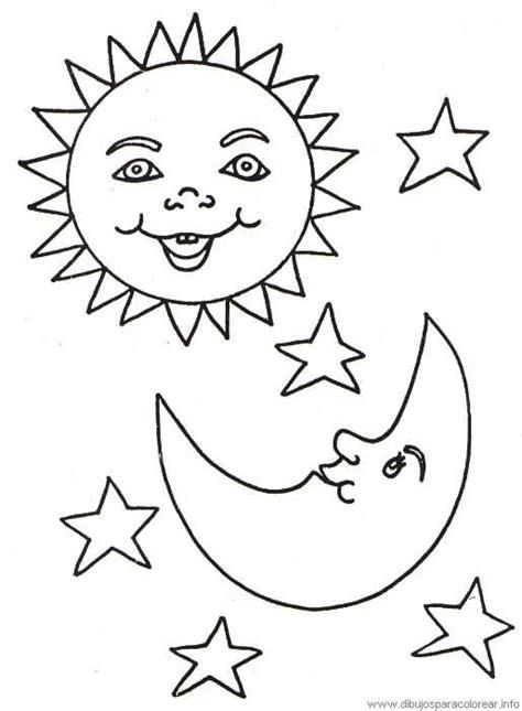 dibujo para colorear estrellas sol luna sol pinterest el sol y la luna dibujalia dibujos para colorear