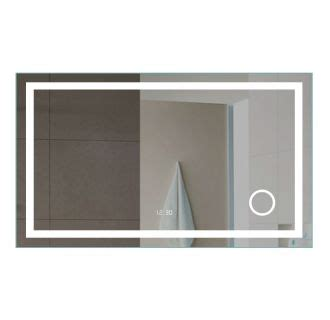 square frameless mirror with led magni er digital clock faucet com mm4835ledmr in mirrored by miseno
