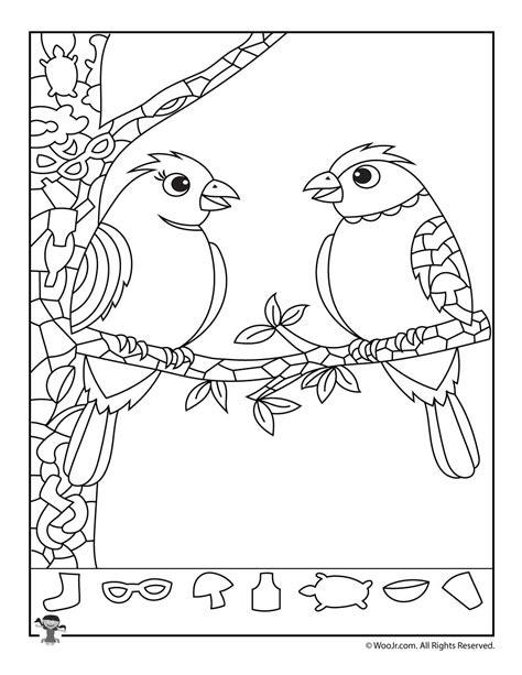 free printable hidden pictures for valentines day love birds hidden picture puzzle woo jr kids activities