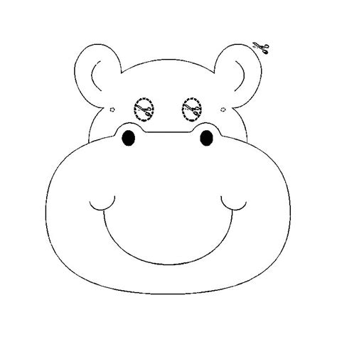 imagenes para colorear hipopotamo hipopotamo dibujos para colorear