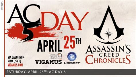 Kaset Bd Ps4 Assassins Creed Chronicles vigamus assassin s creed day 5 25 aprile