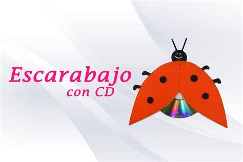 manualidades con materiales de desecho upload share escarabajo con cd 187 manualidad con material reciclable