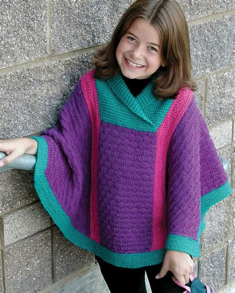 free knitting patterns poncho child ch43 valerie poncho in worsted weight