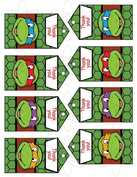 teenage mutant ninja turtles free printable thank you cards printable favor tags instant download teenage mutant