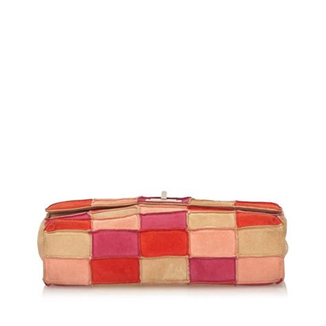 Patchwork Chanel Bag - chanel suede and leather patchwork bag for sale at 1stdibs
