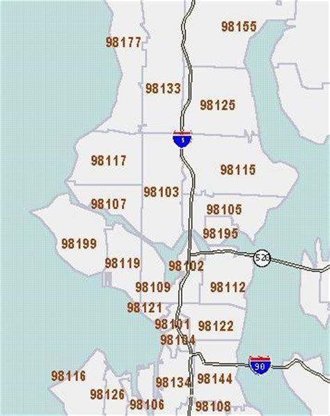 seattle map with zip codes the seattle times census 2000